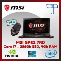 Laptop Gaming MSI GP62 7RD - 426 - Core i7 - 256Gb SSD, 2Gb RAM - DOS