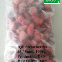Frozen Strawberry IMPORT/Strawberry Frozen/Stroberi Beku - 1 Kg