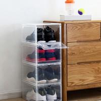 Kotak Sepatu Flip Transparan
