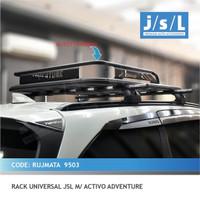 Paket Rak Mobil Bagasi Atas dan Kaki Rak Jepit Mobil Universal