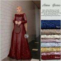 Maxy Dress Aura Gown JUMBO BIG SIZE LD 120CM 3XL XXXL BAJU LEBARAN