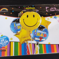 Balon Set Wisuda / Balon Graduation 5 in 1