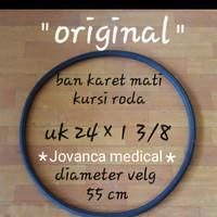 ban mati kursi roda Original motif gerigi tidak licin dan awet.