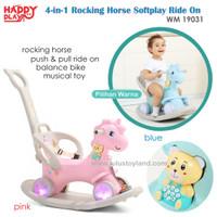 Happy Play 4in1 Rocking Horse Softplay Ride On 2in1 Mainan kuda kudaan