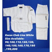 Baju Taekwondo - Kwon Club Line WHITE Dobok
