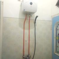 Perlengkapan instalasi luar Water Heater listrik