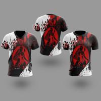 T-shirt Kaos BADMINTON Untuk Pria atau Wanita Style05 Fullprint