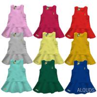 Baju Dress Anak Perempuan pineapple Polos Katun 1-5 Tahun