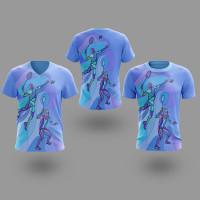 T-shirt Kaos BADMINTON Untuk Pria atau Wanita Style06 Fullprint