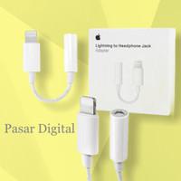 Converter Apple Iphone 7 Jack Audio Headset Earphone Original 100%