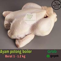 Ayam potong segar boiler /ayam karkas berat 1 - 1.2 kg