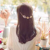 Hiasan Rambut Aksen Daun Bandana Bando Gaya Kekinian Cantik Murah