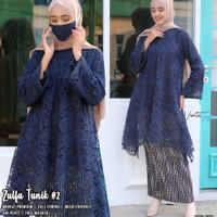 baju wanita blouse tunik zulfa brokat jumbo kebaya unik modern