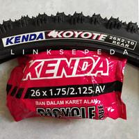 Ban Luar + Dalam 26 x 2.10 210 Sepeda MTB Gunung Offroad Kenda 26x210