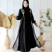 Abaya Hitam Turkey Gamis Drees Wanita Muslim Syari