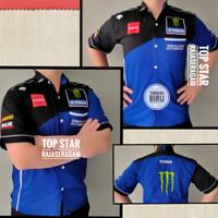 Baju Seragam Otomotif Yamaha, Baju Komunitas Moto GP, Kemeja Bordir F1 - Htm Ijo, L