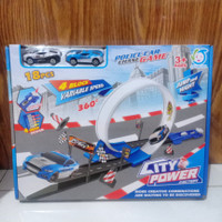 mainan city power ejection police car chase game (18 pc)/mainan anak