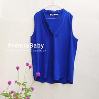(Preloved) Baju Blouse Atasan Kutung Calvin Klein - Biru