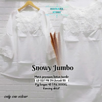 New Snowy Super Jumbo Baju Atasan Wanita Big Size Putih Bordir Modis