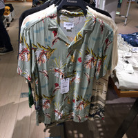 Shirt print pull&bear pria original