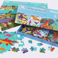 Grow Up Jigsaw Puzzle 4 in 1 / Puzzle Kayu 4 in 1 Premium