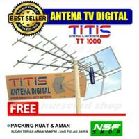 Antena TV Jernih Terbaik Kuat / Antena Titis tt1000 + Kabel 15m
