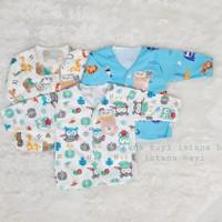 Baju bayi viola newborn lengan panjang (3 PCS) seri warna