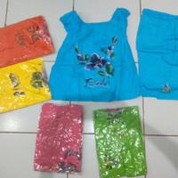 size L sovenir khas bali baju balon lukis bunga setelan anak perempuan