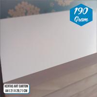 Kertas Art Paper / Art Carton 190 Gram A4 Murah Glossy