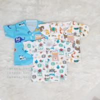 baju bayi viola newborn lengan pendek (3 PCS) seri warna