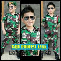 Baju ANAK TNI ( Setelan Komplit ) - Baju Anak TENTARA TNI ABRI Loreng