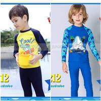 baju renang anak laki panjang/ baju renang import / boys swim suit