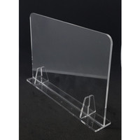 PARTISI / SEKAT / PEMBATAS MEJA AKRILIK TABLE ( 5MM ) Tanpa Lubang - Hitam, 60x40cm