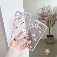 Floral Anticrack Case iPhone 7 8 plus X XR XS 11 PRO MAX SE Soft Cute
