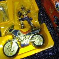 kamen rider blade + blue spader figure & bike banpresto