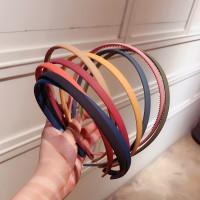 Bando polos korea wanita pria bandana premium simple yoona headband - Hitam