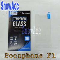 indoscreen Iscreen Anti Gores Tempered Glass Pocophone F1 Screen Guard