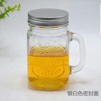 Harvest Drinking Jar Tutup Stainless/Harvest Jar/Mug Jar Glass 495 ml