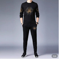 Baju Sweater + Celana Jogger Panjang Pria/Stelan Pria/sweater Pria