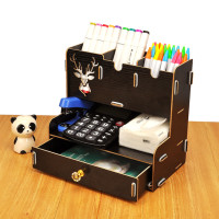 Rak Kosmetik Portable StarHome Bahan Olahan Kayu Organizer Pen RK-215