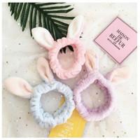 Bando kelinci lucu Headband Kuping Bandana Bondu hewan lucu unik