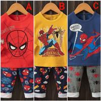 Piyama Katun / Baju Tidur Anak Laki SPIDERMAN Size 7thn-9thn Import