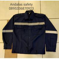 seragam kerja baju safety baju atasan proyek biru dongker