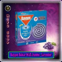 Obat Nyamuk Bakar Baygon MAX Jumbo Lavender Ungu - 150 gr (Harga Pack)