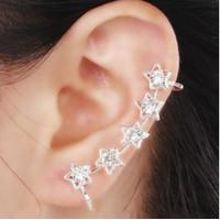 Anting Jepit Wanita E93 STAR Korea Fashion Women Earring Diamond Touch