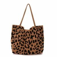 NUDIE BAG TOTEBAG KANVAS motif leopard macan tutul