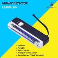 Lampu UV Money Detector / Lampu UV Alat Deteksi Uang Palsu