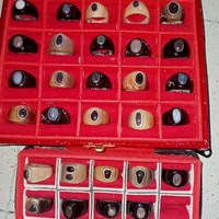 batu kalimaya black opal berjarong ring tanduk kerbau siap pakai