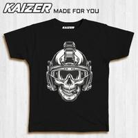 KAIZER RH-0767 Kaos Skull Tactical Helmet - Military - Hitam, S
