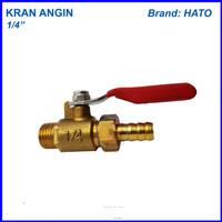 Kran angin 1/4 Hato keran gas keran compresor kuningan ball valve
